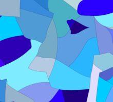 Blue Pieces Pattern Sticker