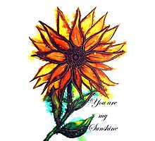 'You are my Sunshine' - Sunflower Photographic Print