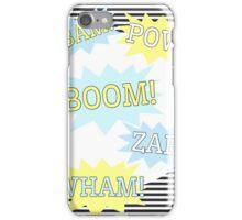 Batman - Pow, Boom, Wham iPhone Case/Skin