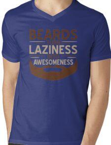 BEARDS LAZINESS Mens V-Neck T-Shirt