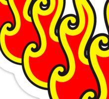 Feuer flammen reihe  Sticker