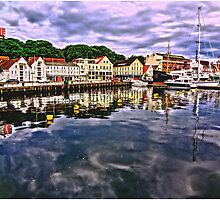 The harbour at Stavanger, Norway by Tim Constable by Tim Constable