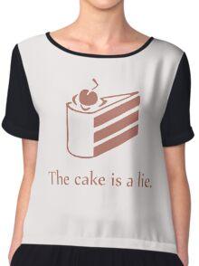 Cake is a Lie Chiffon Top