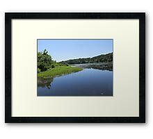 natures reflection Framed Print