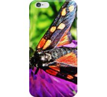Black butterfly with red polka dots iPhone Case/Skin