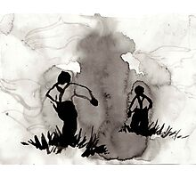 Vintage Ink Drawing  Photographic Print