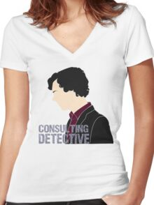Consulting Detective 3 Women's Fitted V-Neck T-Shirt