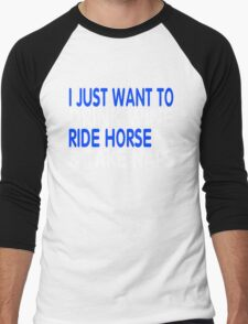 RIDE HORSE Men's Baseball ¾ T-Shirt