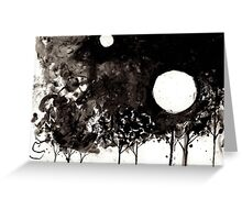 Surrealist Charcoal Landscape Greeting Card