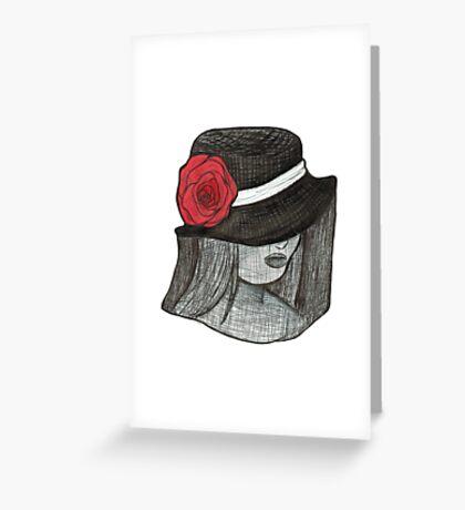Gothic Hat Portrait Greeting Card