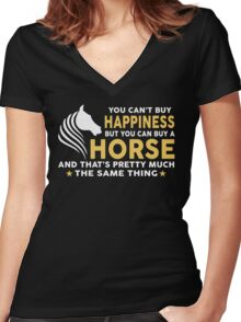 You can buy a Horse Women's Fitted V-Neck T-Shirt