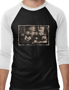 Witches Tea Party - old black/white Men's Baseball ¾ T-Shirt