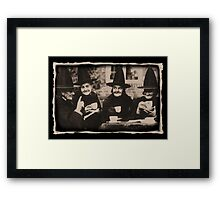 Witches Tea Party - old black/white Framed Print