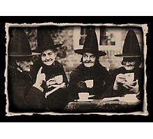 Witches Tea Party - old black/white Photographic Print