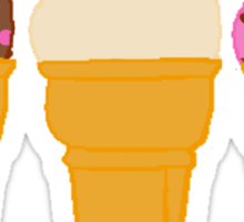 Three Ice Creams 2 Sticker