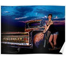 Moonlight Rat Rod Chevy Pickup An Manda Poster