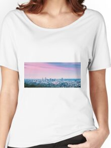 View of Brisbane City from Mount Coot-tha Women's Relaxed Fit T-Shirt