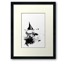 Ink Sailboat Framed Print
