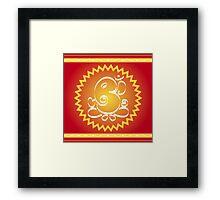 God Ganesha with yellow star Framed Print