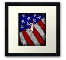 Fourth of July Lady Framed Print