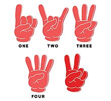 One, Two, Three, Four, V! Photographic Print