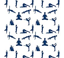 Yoga Positions Pattern by Almdrs