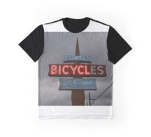 Vintage Bicycle Neon Sign  Graphic T-Shirt