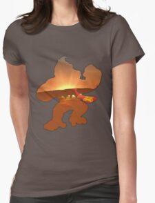 Donkey Kong Sunrise Womens Fitted T-Shirt
