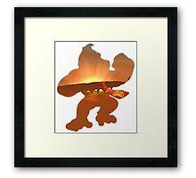 Donkey Kong Sunrise Framed Print