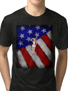 Fourth of July Lady Tri-blend T-Shirt