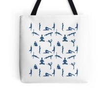 Yoga Positions Pattern Tote Bag
