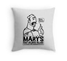 Burly Man Pillows/Totes (black ink) Throw Pillow