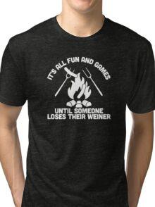 LOSES A WEINER Tri-blend T-Shirt