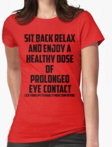 Bo Burnham - Prolonged Eye Contact Womens Fitted T-Shirt