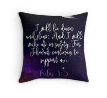 Psalm 3:5 Throw Pillow