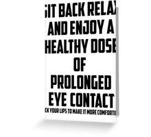 Bo Burnham - Prolonged Eye Contact Greeting Card