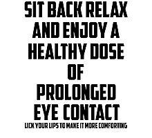 Bo Burnham - Prolonged Eye Contact Photographic Print