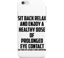 Bo Burnham - Prolonged Eye Contact iPhone Case/Skin