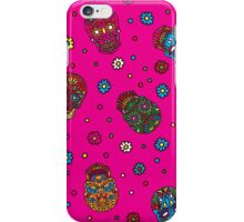 Bright mexican floral skull. Day of the dead seamless pattern. Trendy style iPhone Case/Skin