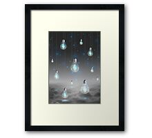 Shine From Within (Shine Bright Series) • Ice Blue  Framed Print