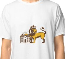 King Lion Paw on House Isolated Retro Classic T-Shirt