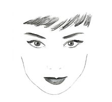 Audrey Hepburn Face by ZoicaMatei