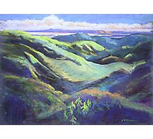 View from the Rooftop St Bernards Tamborine In Pastel  Photographic Print