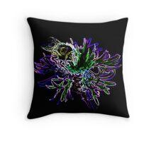 Bumble Bee Neon Throw Pillow