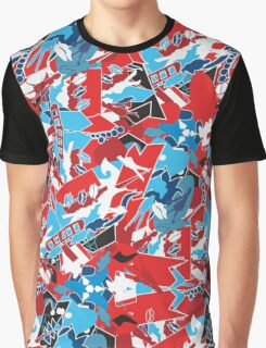 Patchwork bright pattern. Urban bright style  Graphic T-Shirt