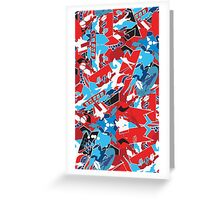 Patchwork bright pattern. Urban bright style  Greeting Card
