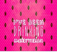 Drinking Watermelon by M Studio Designs