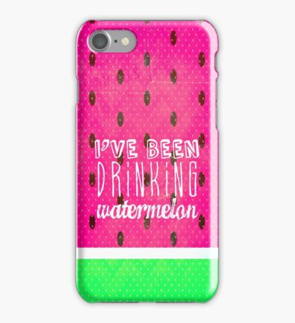 Drinking Watermelon iPhone Case/Skin
