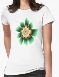 Gold and Green Daisy Flower on Pink T-Shirt