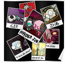 Invader Zim Photo Collage Poster